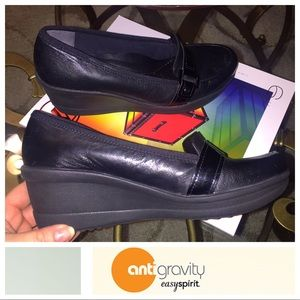 EASYSPIRIT Anti Gravity Black Wedge Shoes
